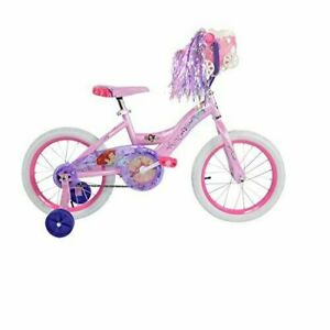 Huffy Disney Princess Girls Bike Kids Bicycle Doll Carriage Pink 16 inch 2-6 yr