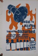 Disturbed Poster Silkscreen April 20 Erie Signed And Numbered