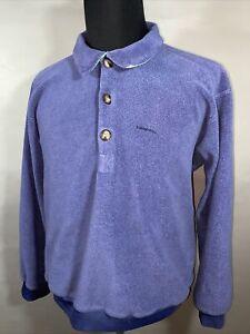 Vintage 90s Patagonia 25610 Mark Tag Half Button Fleece Pullover Made USA Sz XL