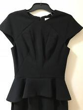 Aurelio Costarella Size 0 (6-8) Black Peplum Dress