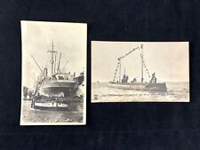 Lot WWI Military Post Card German U Boat Submarine USS Santa Olivia Boat Photo