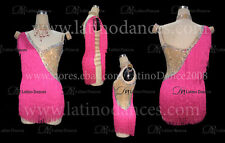 LATINO DANCE DRESS  COMPETITION  WITH HIGH QUALITY STONE M382