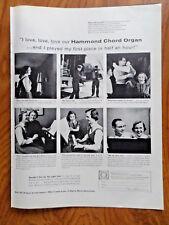 1956 Ad Hammond Chord Organ Mrs Ralph Moser Jr 1193 Walnut Lane Northbrook IL