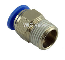 Male Straight Connector Push In To Connect Fitting Tube OD 1/8