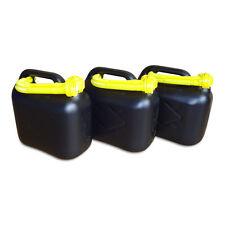 3 Stück 5 L Kraftstoffkanister Benzin Reserve Kanister Tank UN-Zulassung schwarz