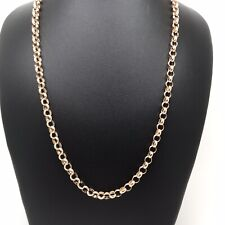 "9Carat (9ct) Rose Gold Belcher Chain - Round Links - 18"" Long - 5.73g"