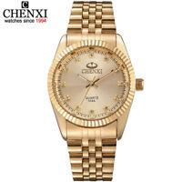 CHENXI Golden Watches Men Stainless Steel Case Brand Design Quartz Wrist Watch