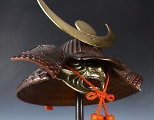 Vintage Japanese Samurai Middle Size Helmet -Masamune Kabuto- with a mask