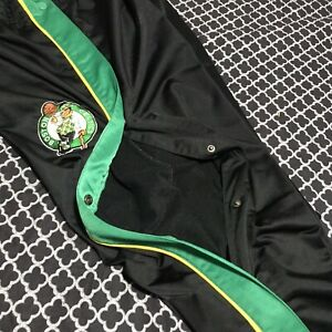 Reebok Boston Celtics Embroidered Tearaway Warm Up Basketball Pants NBA Sz Large