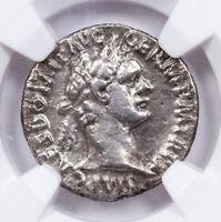 AD 81-96 Roman Empire Silver Denarius of Domitian NGC VF SKU57087