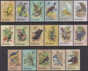 17 Different Barbados 1979-81 Birds Definitive 1c-$10 MNH Stamps SG622/638 range