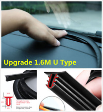 1.6m U Type Car Dashboard Sealing Strip Rubber Windshield Gap Noise Insulation