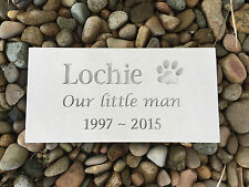 Pet Memorial Plaque - Natural Sandstone - Personalised - Made to Order