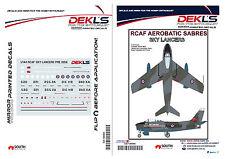 Decals Canadair Sabre - RCAF Sky Lancers Aerobatic Team Pre1956 1/144