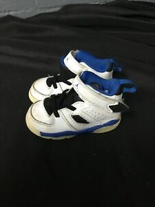 🔥Jordan Baby/toddler Shoes Size 6c White-blue Sneakers🔥