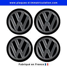 sticker volkswagen logo effet chromé pour cache moyeu de jante (lot de 4)vw-chro