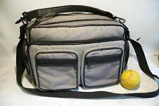 1980s 35mm SLR Film Camera Padded Gadget Accessory Bag Case +Shoulder Strap Grey