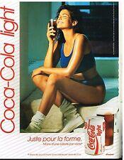 Publicité Advertising 1989 Boisson Soda Coca Cola Light