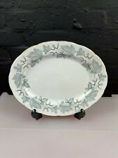 Royal Albert Silver Maple Oval Carving Serving Platter Plate 32.5 cm Wide