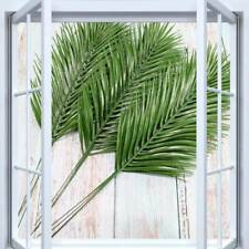 Pack of 6 Artificial Palm Leaves 45cm - Green Fake Plastic Faux Fern / Cycas US