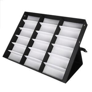 18 Grids Glasses Display Case Sunglasses Storage Box Organizer Glasses Jewelry