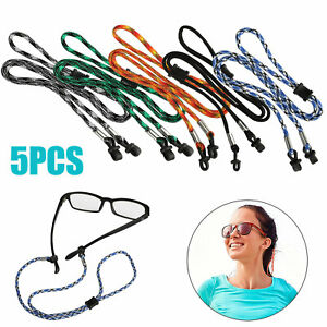 5PCS Neck Cord Strap Sunglasses Eyeglasses Rope String Lanyard Holder Adjustable