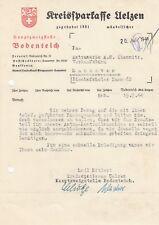 UELZEN BODENTEICH, Brief 1944, Kreissparkasse Uelzen