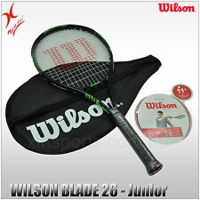 WILSON TENNIS RACQUET - BLADE 26 - JUNIOR RACKET - FOR UP TO 12 YEAR PLAYING