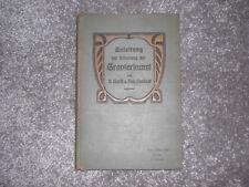 Sehr Selten - Anleitung zur Erlernung der Gravierkunst 1905 P.Hanff u. R.Neubert