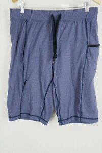 "Lululemon Mens sz Large Blue Drawstring Loose Fit 11"" Athletic Shorts"