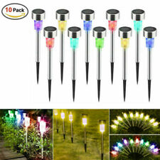 10x Solar Garden LED Lights Colorful Waterproof Landscape Pathway Garden Lamp