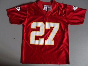 Kansas City Chiefs #27 Larry Johnson NFL Football Screen Jersey Youth S (8) NICE