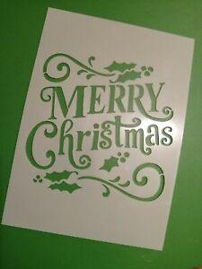 Christmas Letters Graffiti Stencil MYLAR Sheet 190 Micron Reusable