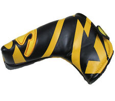 """""""Yes"""" Yellow And Black Golf Blade Putter Cover Headcover For Scotty Cameron Ping"""