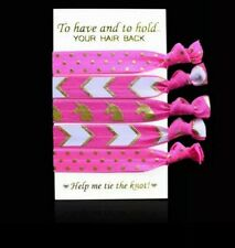 5 Creaseless Hair Ties- No Damage Gentle Ponytail Holder UK