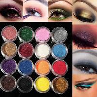 16 Mixed Color Glitter Powder Eyeshadow Makeup Eye Shadow Cosmetics Salon Set HS
