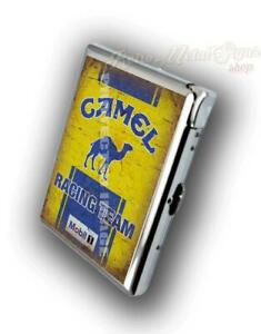 CAMEL RACING TEAM ADVERTISING CIGARETTE CASE WITH  BUILD IN LIGHTER
