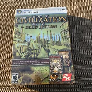 Sid Meier's Civilization IV - Gold Edition Windows XP PC Game 4-Disk