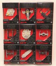 New Star Wars Black Titanium Series The Force Awakens Ships Vehicles Lot of 9
