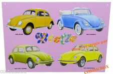 Plaque en métal COCCINELLE New BEETLE voiture auto garage deco car stick plate