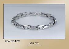 "USA, Unisex Cool Mens / Womens Stainless Steel Bracelet SSB-007 (8"""
