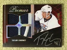 2009-10 O-Pee-Chee Premier TAYLOR CHORNEY Platinum Patch Autograph #/35 Oilers