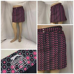 Puma Golf Skirt 8 Pink Black Geometric Lined Poly Stretch LNWOT YGI S0-12