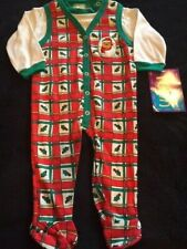 NWT Winnie The Pooh Christmas Romper Jumper & Top 3-6 Months 14-18 lbs. Vitnage