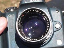 Nikon S S2 S3 S4 SP Nikkor-S.c Rangefinder 5cm/1.4 No.339085   Sony Nex adapter