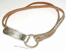 """EXPRESS~NWOT~METALLIC GOLD~LEATHER *DOUBLE BRAIDED ROPE* EQUESTRIAN BELT~M~41.5"""""""