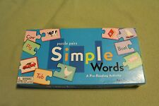 Puzzle Pairs Simple Words game by eeBoo Corporation USED educational pre-reading