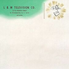 50 BULK WHOLESALE 1963 L&M TELEVISION TV CO LETTERHEAD Stationary Sheets Unused
