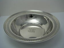 "A STERLING SILVER BOWL DISH DEEP PLATE by Redlich & Co. N.Y. ca1900s Mono ""BMW"""