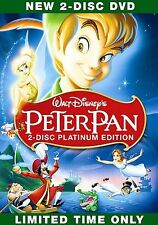 Peter Pan DISC ONE DVD ONLY!*PREVIOUS RENTAL*NOT ORIGINAL COVER ART*